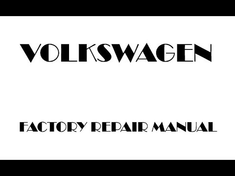 Volkswagen Bora Factory Repair Manual 2006 2005 2004 2003