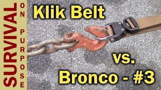 Klik Belt Cobra Buckle Tactical Belt -Riggers Belt Extreme Test