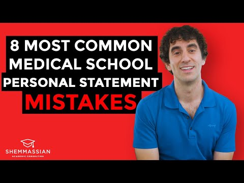 8 Most Common Medical School Personal Statement Mistakes