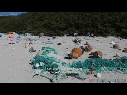Plastic Rubbish Coats Beach on Remote South Pacific Island