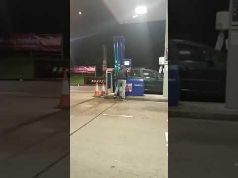 Travellers stealing diesel at petrol pumps