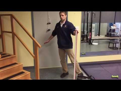 Single Leg Stance Band Adduction Progression