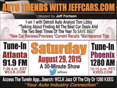 2015 Extended Web Interview Discussing Best Deals with Detroit Analyst Tim Libby And JeffCars.com