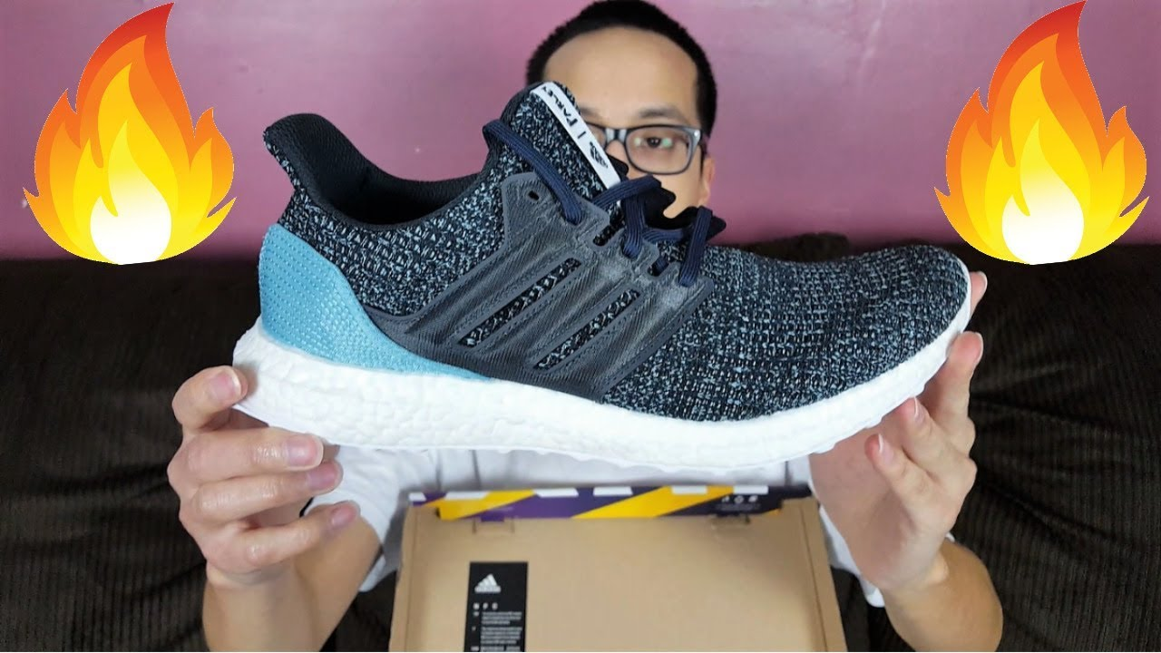 b067a3e8cbe3f Adidas x Parley Ultra Boost 4.0 Review! Shoes Made From 11 Recycled Plastic  Bottles!