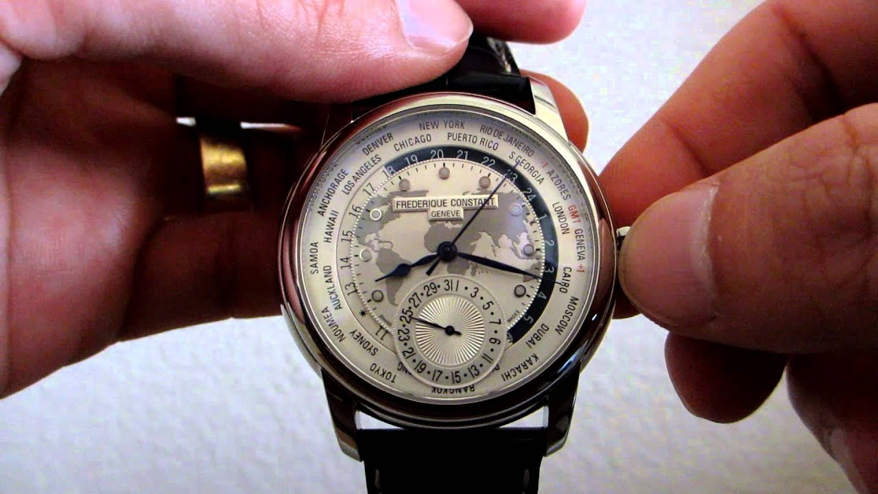 Frederique constant worldtimer manufacture how to set youtube gumiabroncs Images