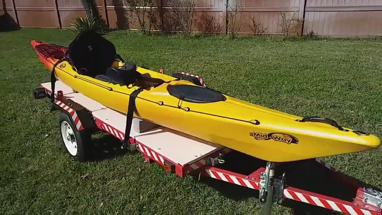 diy harbor freight kayak trailer under 350 youtube