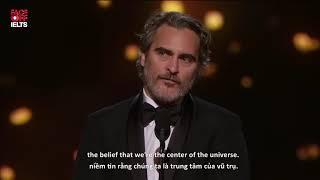 Bài phát biểu truyền cảm hứng của Joaquin Phoenix tại lễ trao giải Oscar 2020
