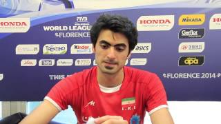 Interview with Amir Ghafour  IRI Attacker | 2014 FIVB World League Finals