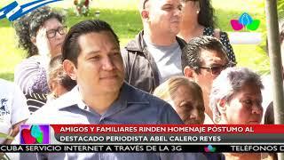 Dan último adiós al periodista Abel Calero Reyes