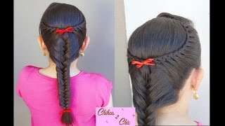 Lace braids into a fishtail!! | Chikas Chic