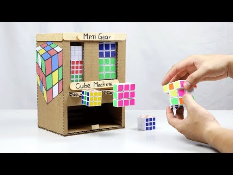 How to Make CUBE Machine from Cardboard