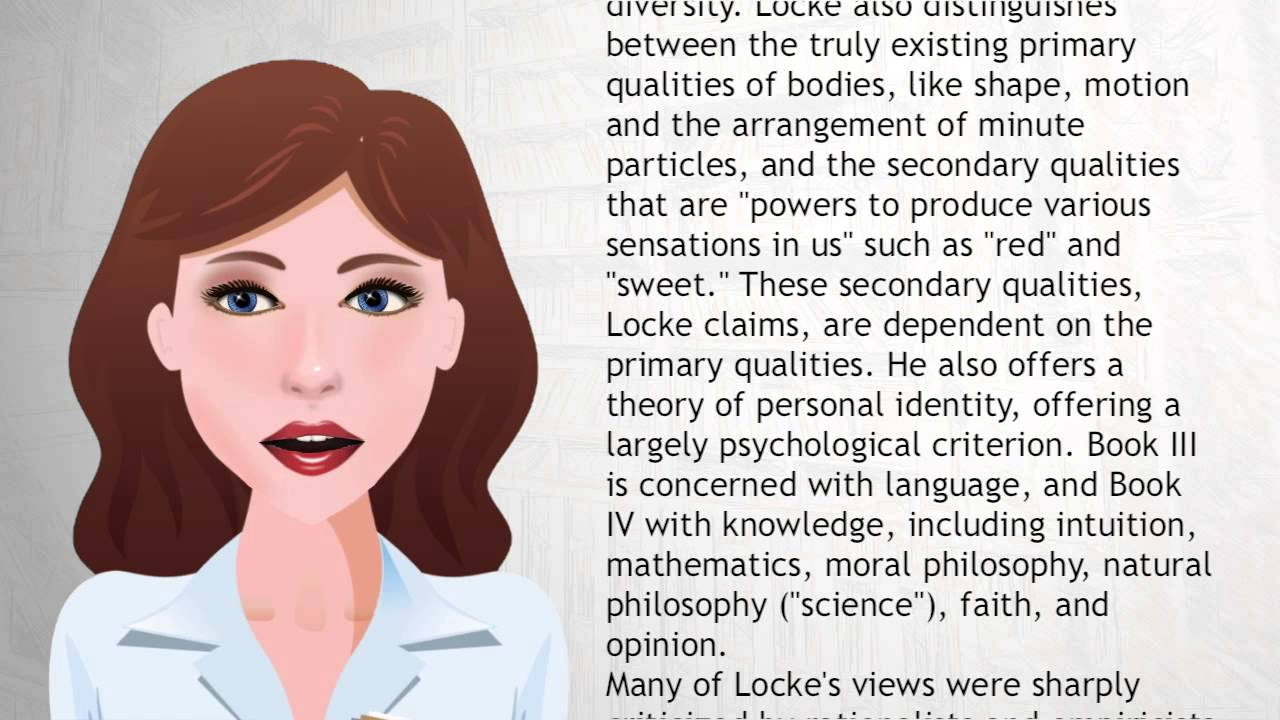 Guide to Locke s Essay - Philosophy Pages
