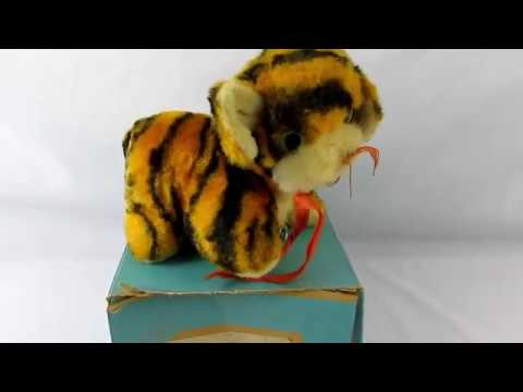 Vintage Eden Toys Musical Toy Tiger Stuffed Animal Bantam