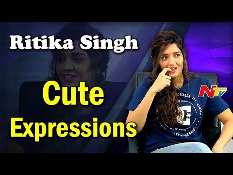Ritika Singh Cute Expressions in Interview || Guru || Shivalinga || NTV