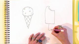 Kijk Hoe teken je ijsjes filmpje