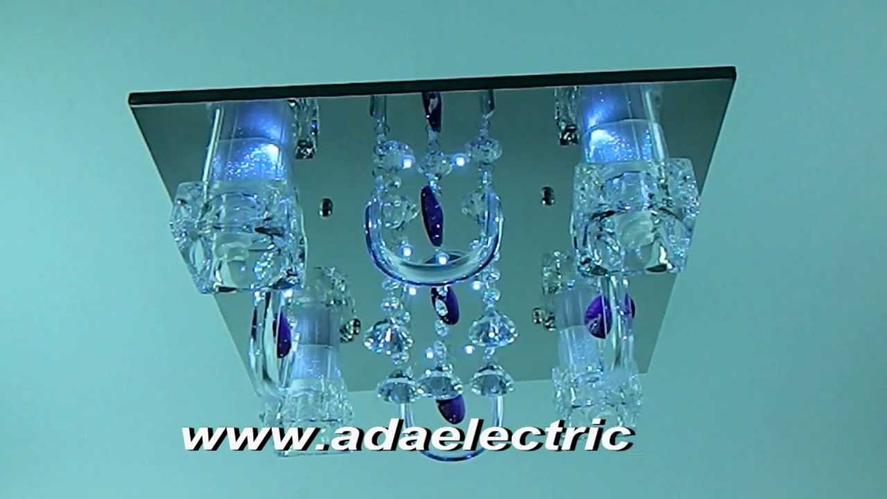 Plafoniera Led Cu Telecomanda : Ada electric lustra led cu telecomanda model: a2003 4 youtube