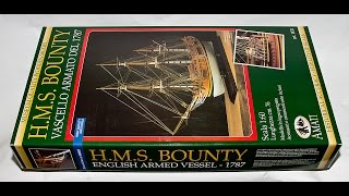 Amati H.M.S Bounty English Armed Vessel 1787 1:60 Scale Wooden Model Ship Kit