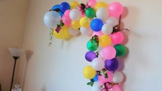 wedding anniversary diy home decor (part 2)/ Balloon arch