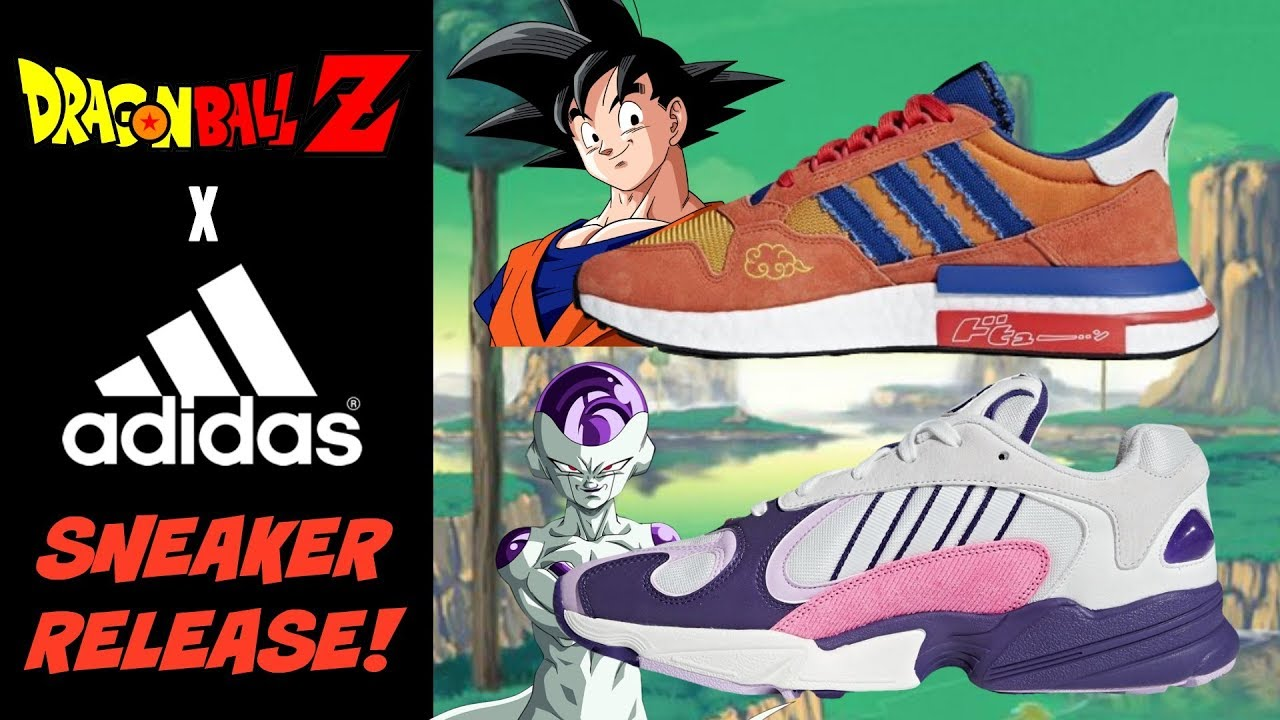 newest 1edc8 308c9 DRAGON BALL Z x ADIDAS SNEAKERS ARE HERE! GOKU AND FRIEZA REVEALED!