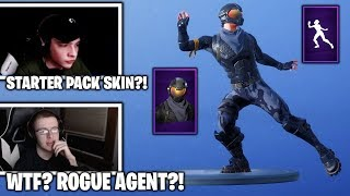 STREAMERS REACTS TO Starter Pack Rogue Agent IN ITEM SHOP & NEW Vivacious Emote! (Fortnite Moments)