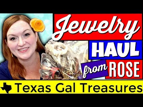 Mystery Jewelry Haul Unboxing 2018 - Friend Mail from Rose - Jewelry Jar Unboxing