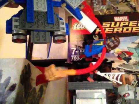 Lego marvel superheroes avengers ultron revolution captain America jet pursuit set review