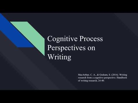 Cognitive Process Perspectives on Writing