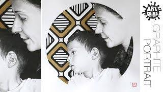 Двойной портрет Карандашом