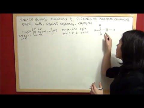 Quimica Enlace Ejercicio 8 Estructura De Lewis De Moléculas Orgánicas