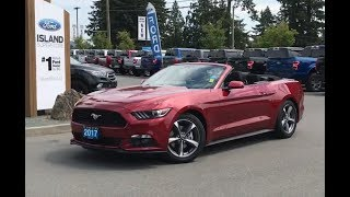2017 Ford Mustang W/ Low Km, Bluetooth, Convertible Review  Island Ford