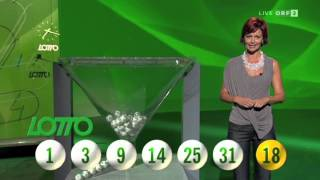 Lotto 6aus45 mit Joker vom 17. August 2014 in ORF2