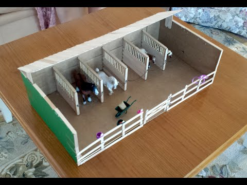 Making Ella S Schleich Barn Stable And Fences Youtube