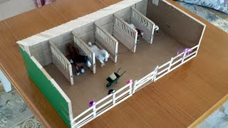Making Ella's Schleich Barn / Stable and fences.