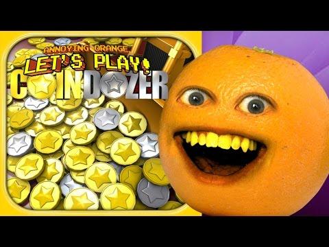Annoying Orange Goes INSANE for Coin Dozer!