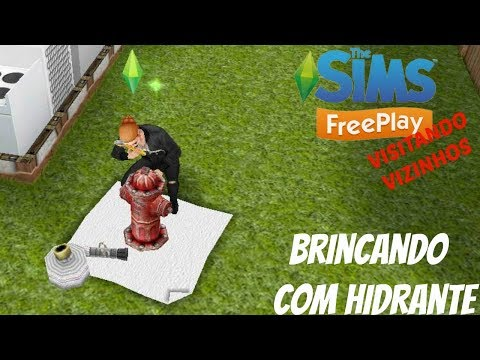 BRINCANDO COM HIDRANTE - VISITANDO VIZINHOS #08 - (The Sims FreePlay) - Rafaah Play Games