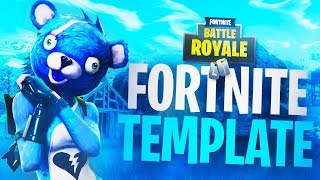"NOUVEAU FREE FORTNITE THUMBNAIL TEMPLATE ""CUDDLY TEAM LEADER"" - (FREE Fortnite GFX Templates DOWNLOAD)"