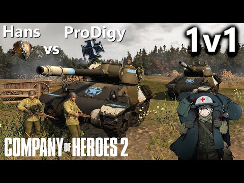 CoH2: 1v1 Hans(US) Vs ProDigyIgi(OKW) (Company Of Heroes 2)