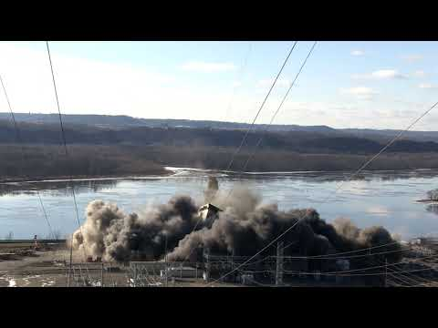 Nelson Dewey Generating Station implosion - December 14, 2017