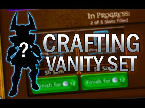 Arcane Legends | Crafting vanity set!
