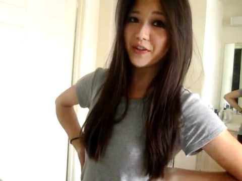 Flat asian teen