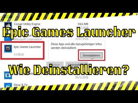 EPIC Games Launcher deinstallieren | PC Windows 10