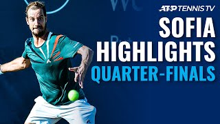 Sinner Ousts De Minaur; Gasquet & Pospisil Reach Last Four | Sofia 2020 Quarter-Final Highlights