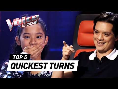 The Voice Kids  QUICKEST COACH TURNS