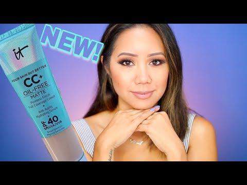 IT Cosmetics CC Matte Review   It Cosmetics CC+ Oil Free Matte Poreless Finish Review & Demo