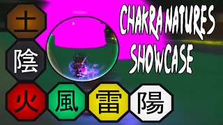 ALL CHAKRA NATURES SHOWCASE | NEW BORUTO GAME | Boruto Online - Roblox
