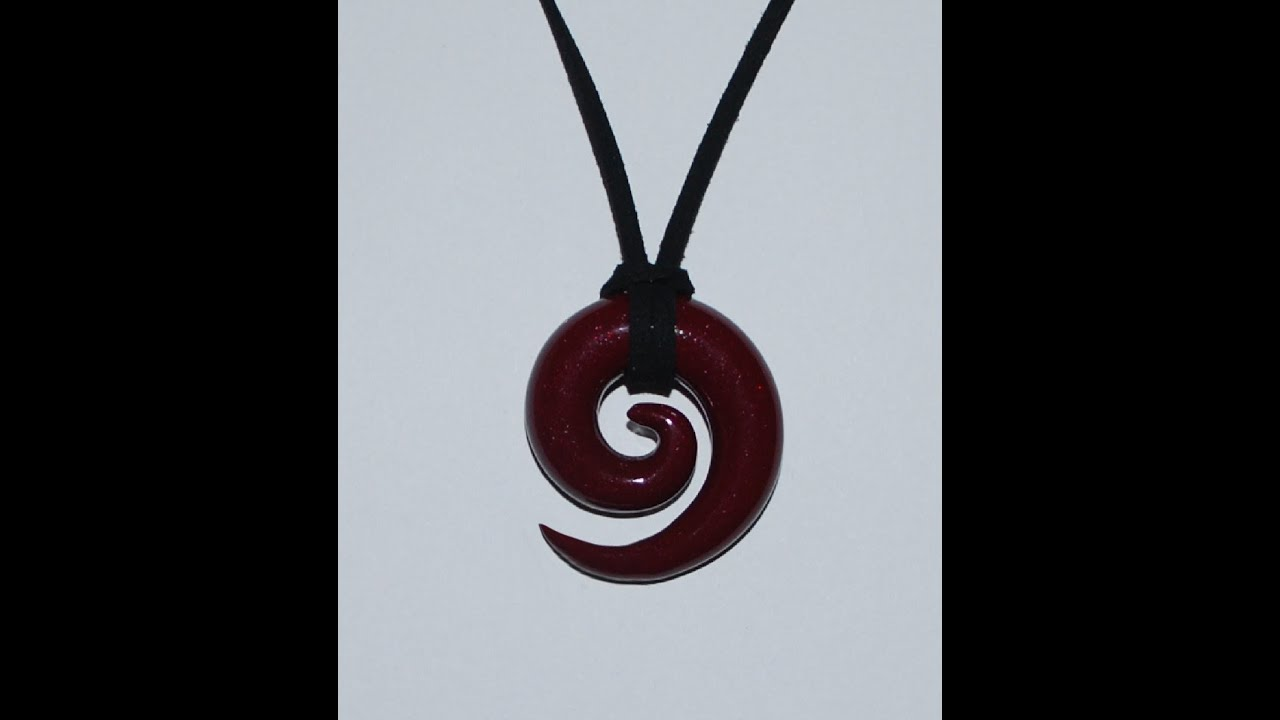 Spiral pendant necklace polymer clay tutorial youtube spiral pendant necklace polymer clay tutorial aloadofball Images