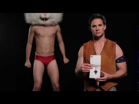 RYAN MERRIMAN sings with a naked rabbit