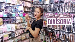 Shop With Me: DIVISORIA + HAUL | Makeup Brushes for P80
