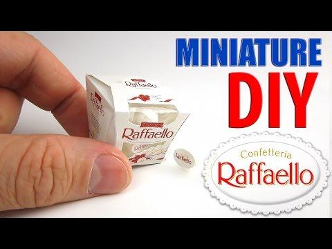 DIY Ferrero Raffaello Candy Box Miniature. DollHouse food, accessories and Toys for Barbie