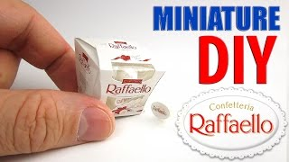 DIY Ferrero Raffaello Candy Box Miniature. DollHouse food, accessories and Toys for Barbie